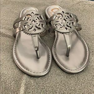 Circus by Sam Eldelman Silver Flip Flop **NEW**